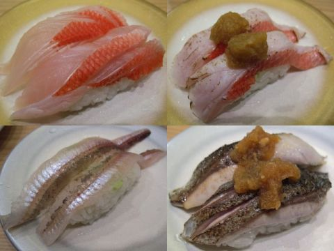 沼津港で回転寿司