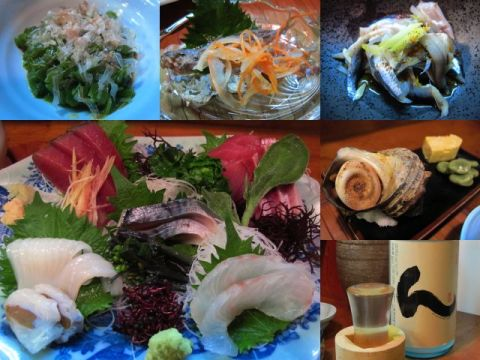 御宿「舟勝」で地魚料理