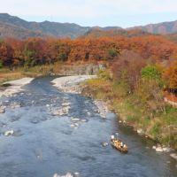 長瀞・岩畳の紅葉