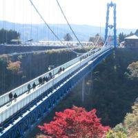 常陸太田・紅葉の竜神大吊橋